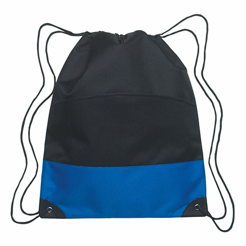 Royal Blue Drawstring Sports Pack- Embroidered as seen from the front
