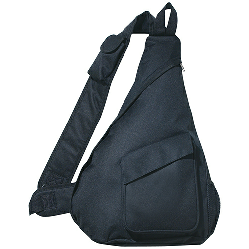 Black Sling Backpack as seen from the front