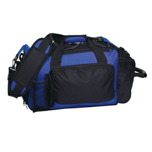 Royal Blue Deluxe Sports Duffel Bag as seen from the front