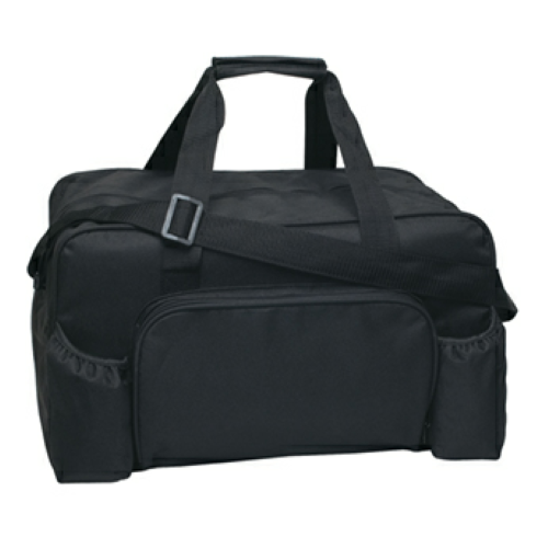 Black Econo Duffel Bag as seen from the front