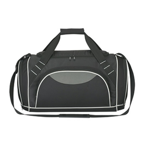 Black Super Weekender Duffel Bag as seen from the front