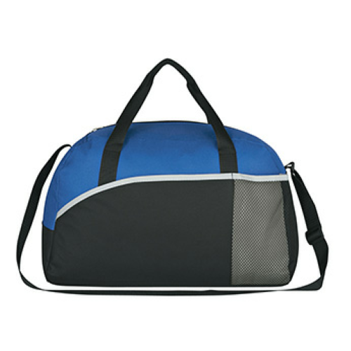 Royal Blue Executive Suite Duffel Bag as seen from the front