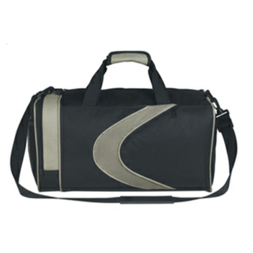 Gray Sports Duffel Bag as seen from the front