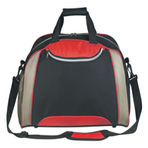 Red Excel Duffel Bag as seen from the front