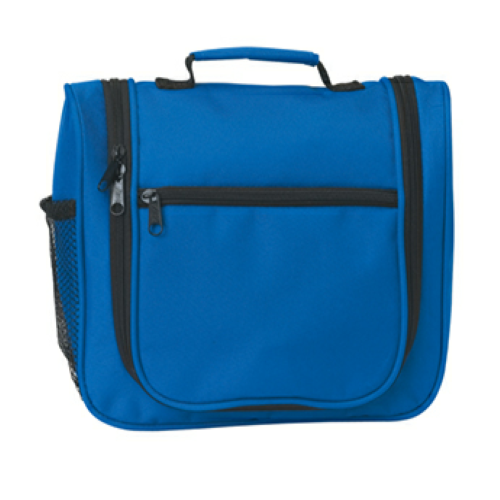 Royal Blue Deluxe Personal Travel Gear as seen from the front