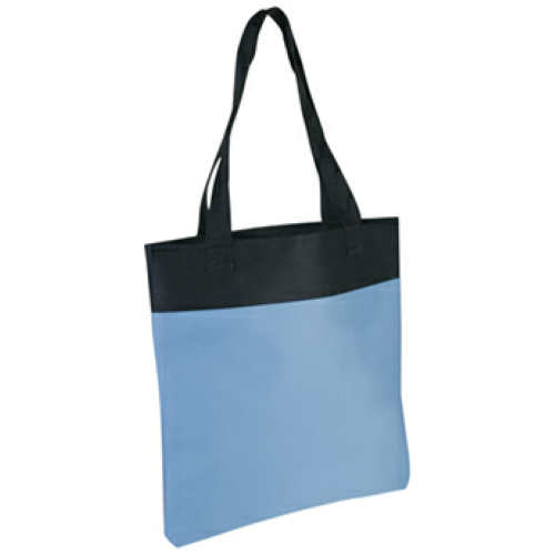 Carolina Blue Shoppe Tote Bag as seen from the front