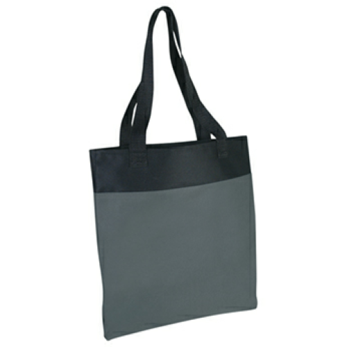 Gray Shoppe Tote Bag as seen from the front