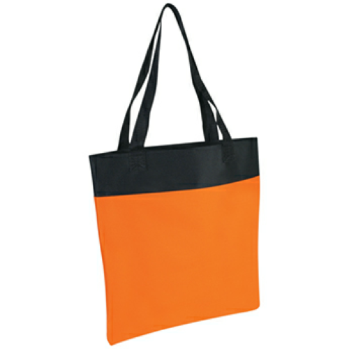 Orange Shoppe Tote Bag as seen from the front