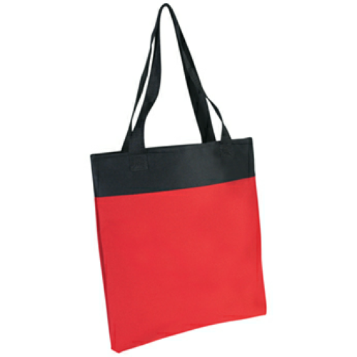 Red Shoppe Tote Bag as seen from the front