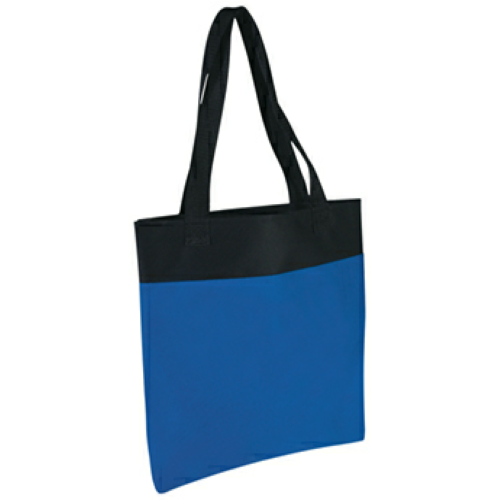 Royal Blue Shoppe Tote Bag as seen from the front