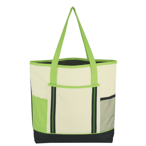 Lime Green Berkshire Tote Bag as seen from the front
