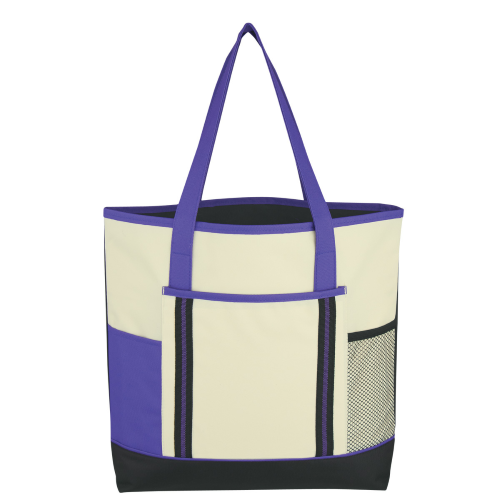 Purple Berkshire Tote Bag as seen from the front