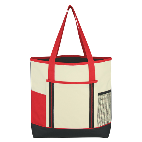 Red Berkshire Tote Bag as seen from the front