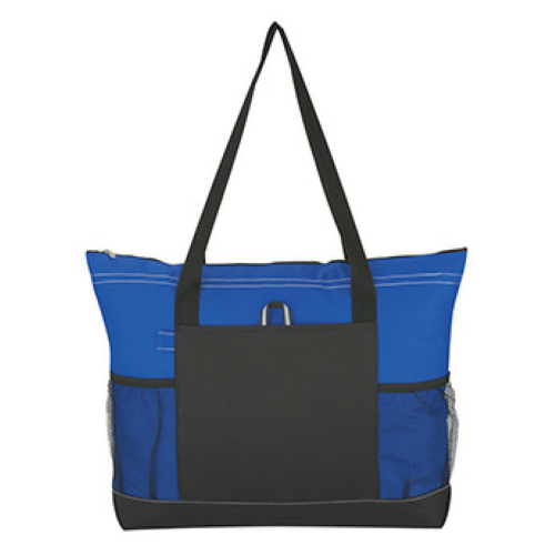 Royal Blue Voyager Tote as seen from the front