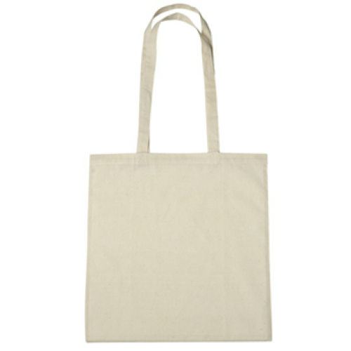 Natural 100% Cotton Tote Bag as seen from the front