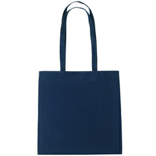 Navy 100% Cotton Tote Bag as seen from the front