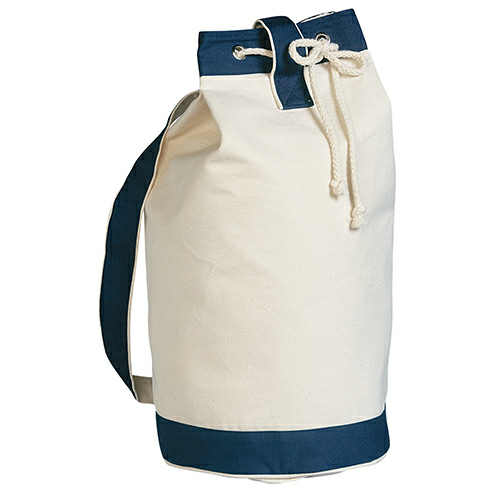 Blue Heavy Canvas Cotton Boat Tote as seen from the front