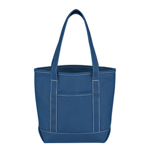 Royal Blue Small Cotton Canvas Yacht Tote as seen from the front