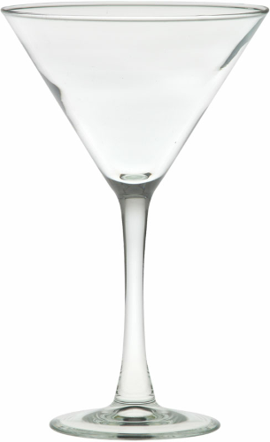 Clear 7.25 oz. Classic Stem Martini as seen from the front