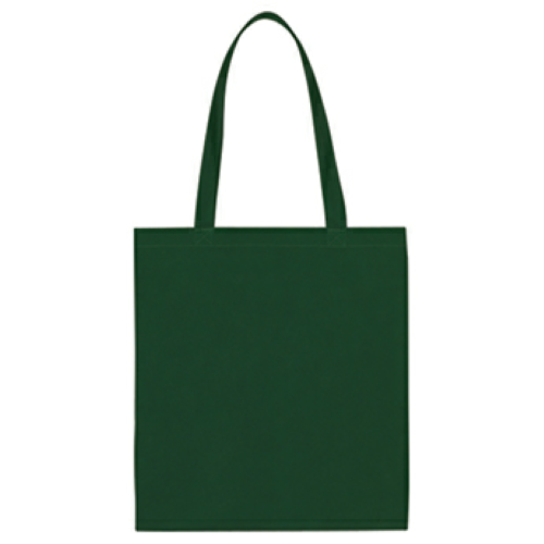 Forest Green Non-Woven Economy Tote Bag as seen from the front