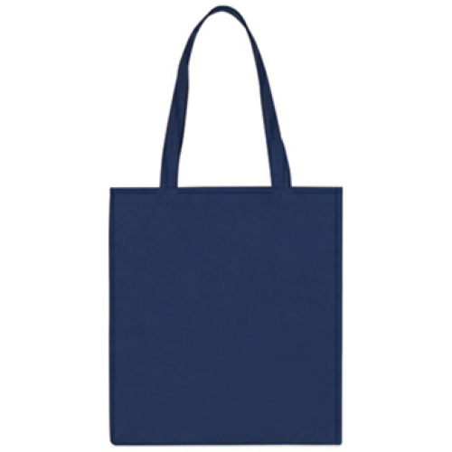 Navy Non-Woven Economy Tote Bag as seen from the front