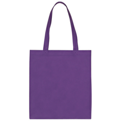 Purple Non-Woven Economy Tote Bag as seen from the front