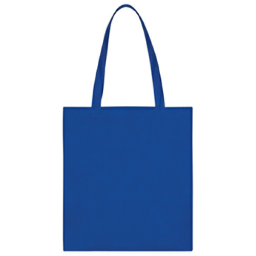 Royal Blue Non-Woven Economy Tote Bag as seen from the front
