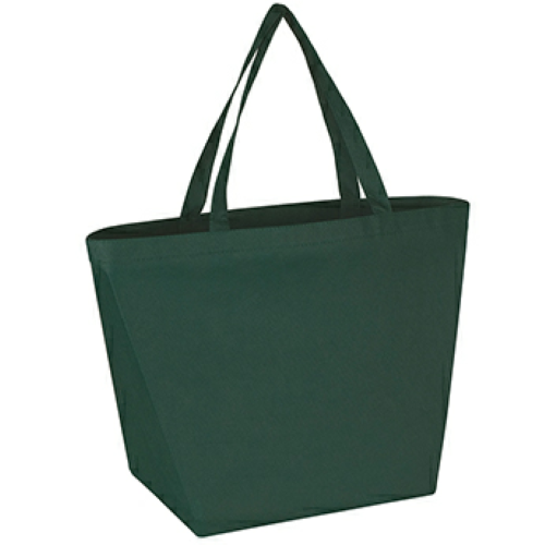 Forest Green Non-Woven Budget Shopper Tote Bag as seen from the front