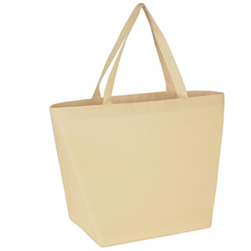 Natural Non-Woven Budget Shopper Tote Bag as seen from the front