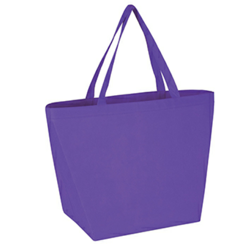 Purple Non-Woven Budget Shopper Tote Bag as seen from the front
