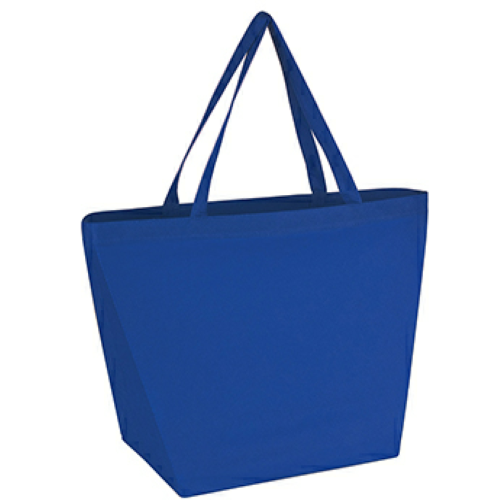 Royal Blue Non-Woven Budget Shopper Tote Bag as seen from the front