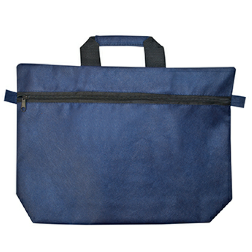 Navy Non-Woven Document Bag as seen from the front