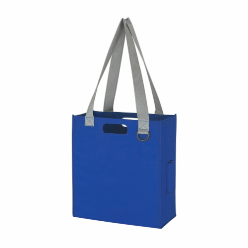 Royal Blue Non-Woven Expedia Tote Bag as seen from the front