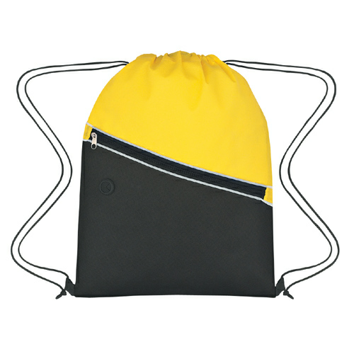 Yellow Non-Woven Two-Tone Sports Pack as seen from the front