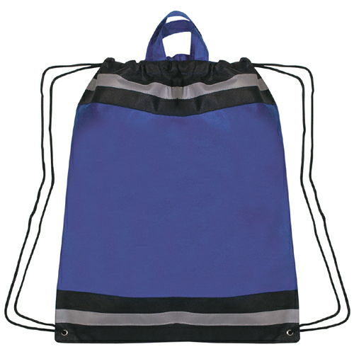 Royal Blue Large Non-Woven Reflective Sports Pack as seen from the front