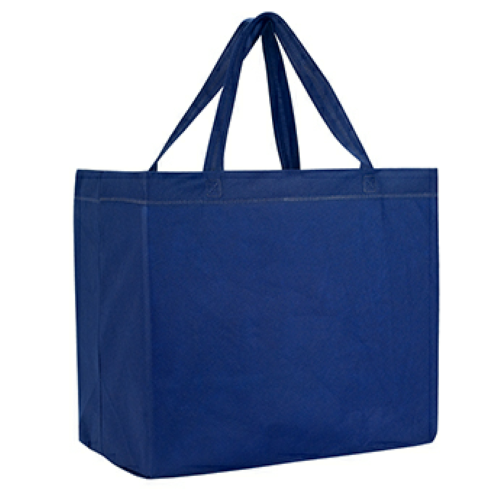 Navy Heat Sealed Non-Woven Grande Tote Bag as seen from the front