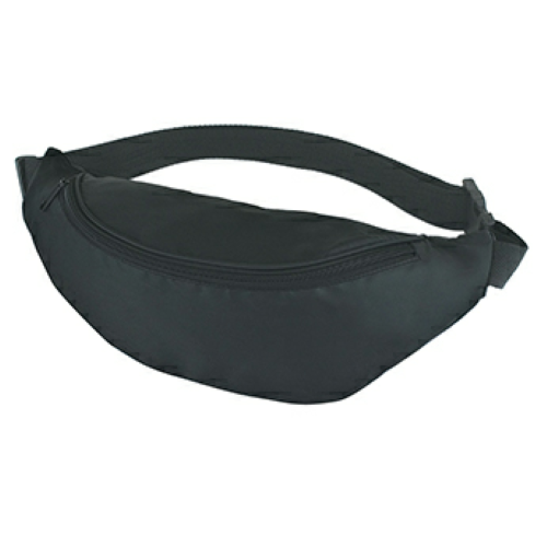 Black Budget Fanny Pack as seen from the front