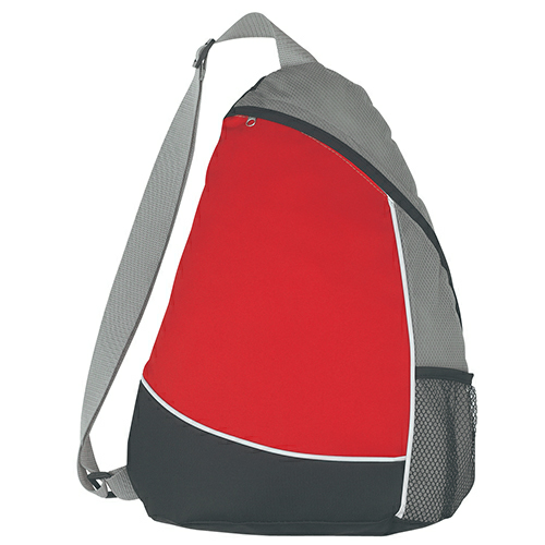 Red Sling Backpack as seen from the front