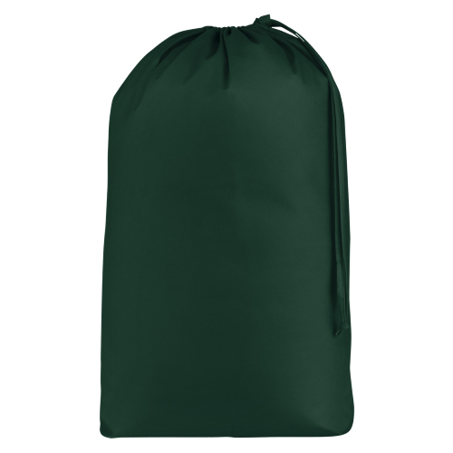 Forest Green Non-Woven Laundry Bag as seen from the front