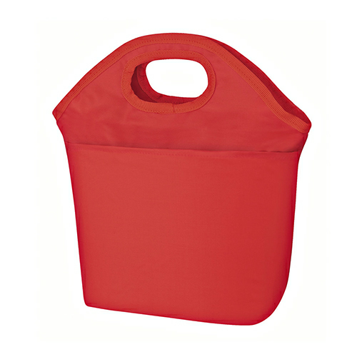 Red Hampton Kooler Bag as seen from the front