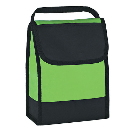 Lime Green Folding Identification Lunch Bag as seen from the front