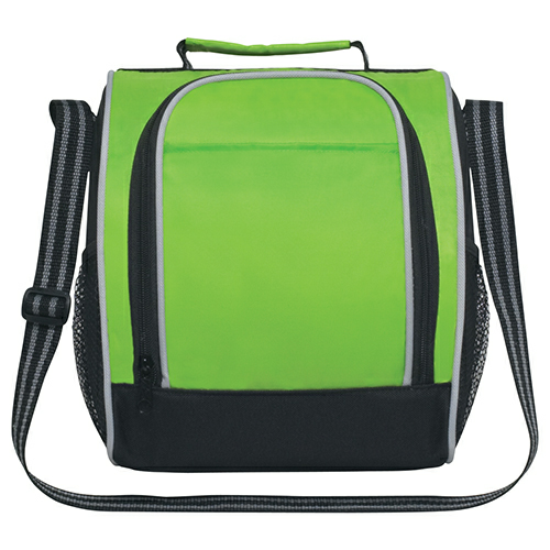 Lime Green Insulated Lunch Bag as seen from the front