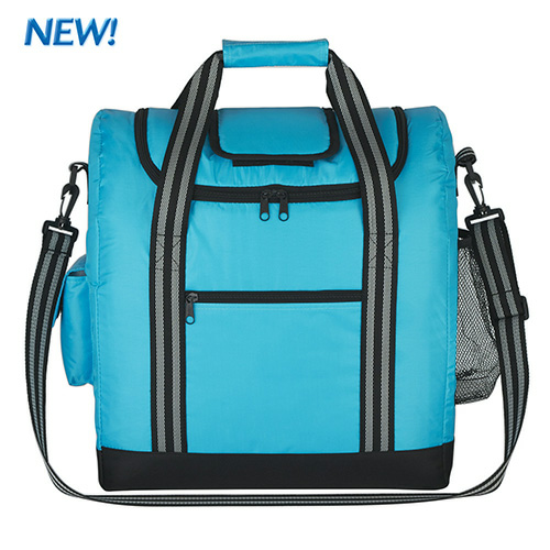 Carolina Blue Flip Flap Insulated Kooler Bag as seen from the front