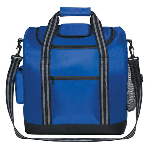Royal Blue Flip Flap Insulated Kooler Bag as seen from the front