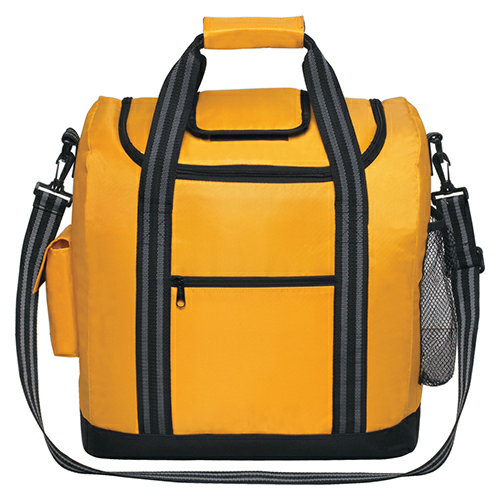 Yellow Flip Flap Insulated Kooler Bag as seen from the front