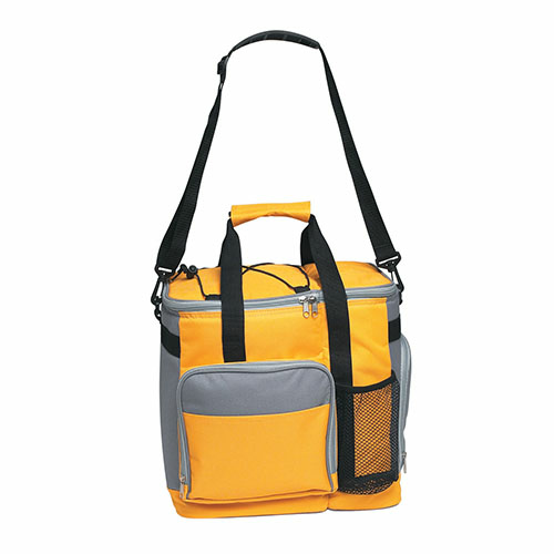 Yellow Large Insulated Kooler Tote as seen from the front