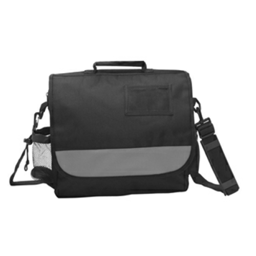 Gray Business Messenger Bag as seen from the front