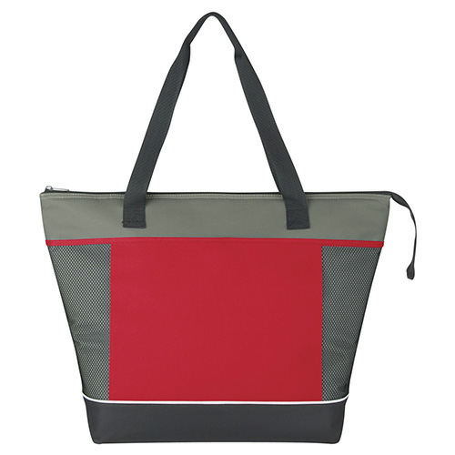 Red Mega Shopping Kooler Tote as seen from the front