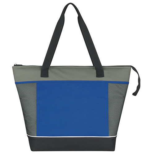 Royal Blue Mega Shopping Kooler Tote as seen from the front