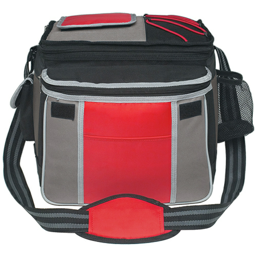 Red Flip Flap Insulated Kooler Bag as seen from the front